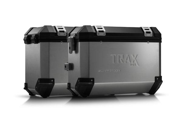 TRAX ION Alukoffer-System Silbern. 37/45 l. BMW F 800 / 700 / 650 GS (08-).