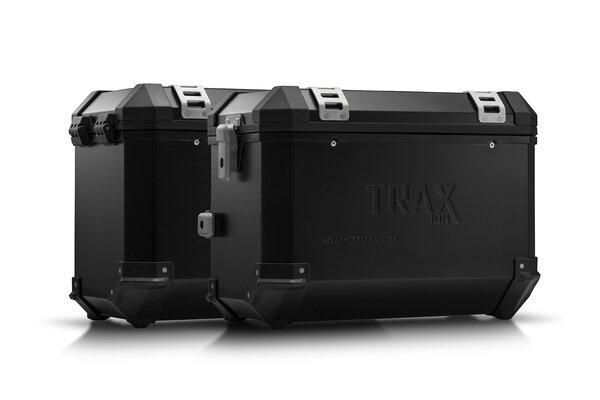 Sistema valigie in alluminio TRAX ION Nero. 45/45 l. Kawasaki Versys 650 (15-).