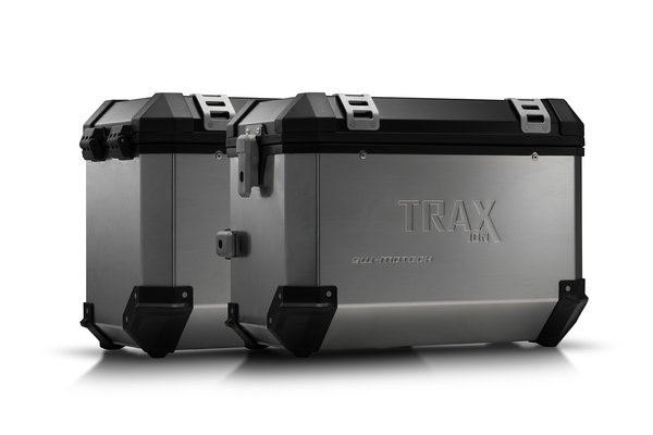 Sistema valigie in alluminio TRAX ION Argento. 45/45 l. Yamaha TDM 900 (01-09).