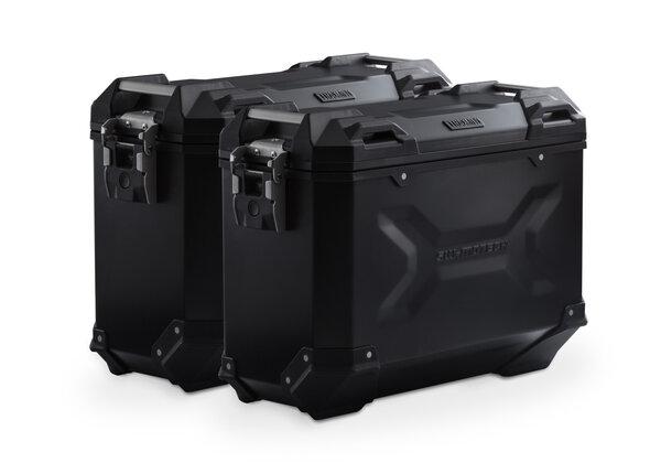 TRAX ADV Alukoffer-System Schwarz. 37/37 l. Honda NC700 S/X, NC750 S/X.