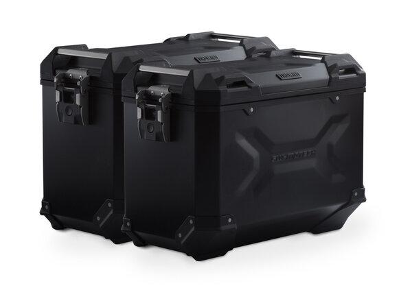 TRAX ADV Alukoffer-System Schwarz. 45/45 l. KTM 990 SM / SM-T/-R / 950 SM.