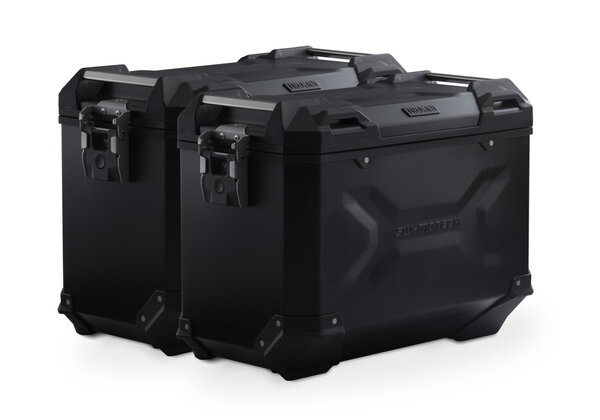 TRAX ADV Alukoffer-System Schwarz. 45/45 l. Suzuki DL1000/Kawasaki KLV1000.