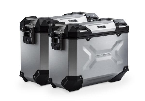 Sistema valigie in alluminio TRAX ADV Argento. 37/37 l. Suzuki DL 650 (17-).