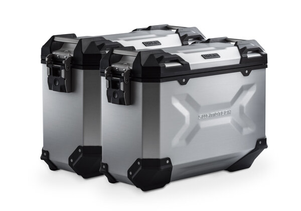 TRAX ADV aluminium case system Silver. 37/37 l. BMW F650GS (-07) / G 650GS (11-).