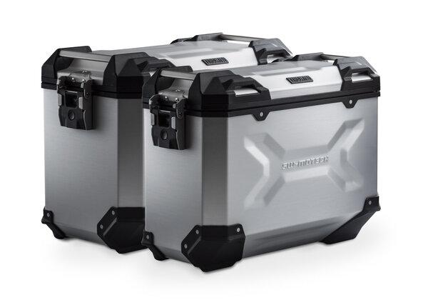 Sistema valigie in alluminio TRAX ADV Argento. 45/37 l. Triumph Tiger 1050 Sport (13-).