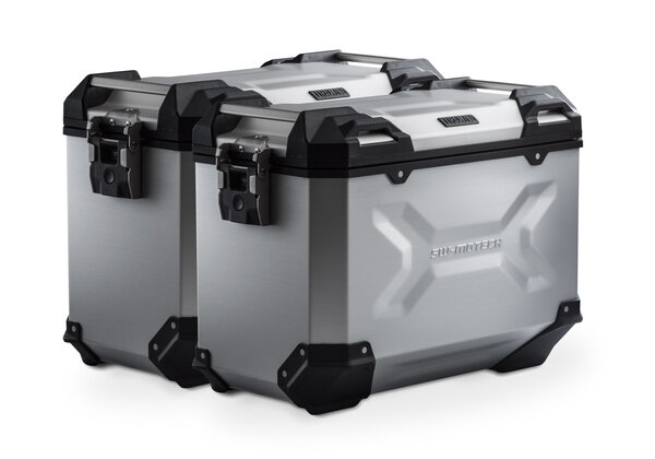 Sistema valigie in alluminio TRAX ADV Argento. 45/45 l. Honda NC700 S/X, NC750 S/X.
