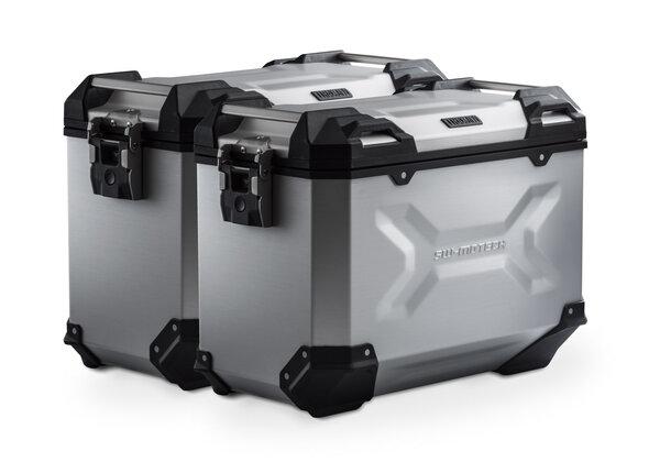 Sistema valigie in alluminio TRAX ADV Argento. 45/45 l. Yamaha XT 660 Z Teneré (07-16).