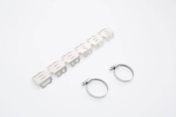 Protección para el tubo colector Plateado. Universal. Para colector-Ø 32-50 mm.