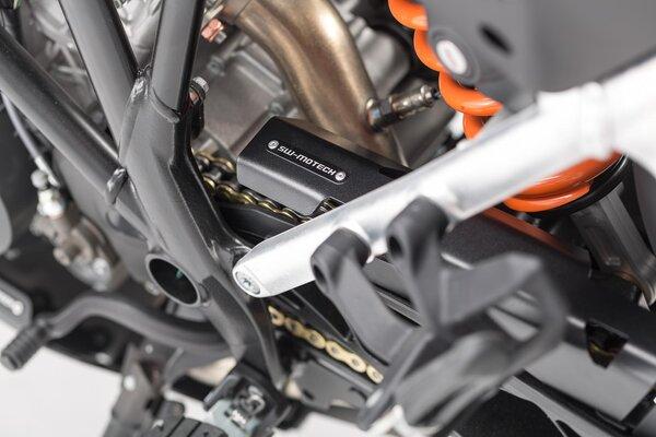 Extension pour protection de chaine Noir. KTM 1050/1090/1190 Adv,1290 SAdv.