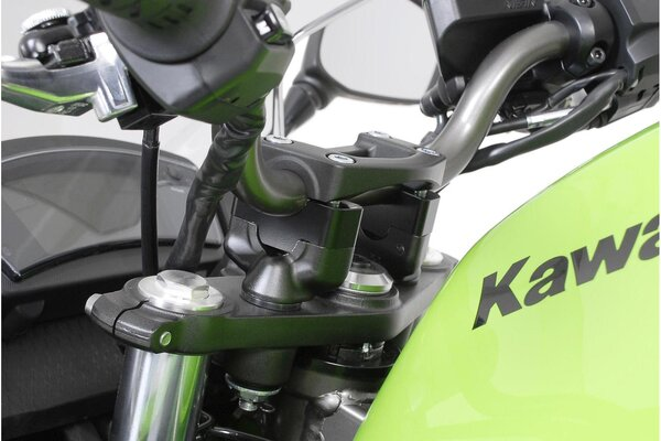 Bar riser H=20 mm. Black. Kawasaki ER-6n (08-11) /f (08-).