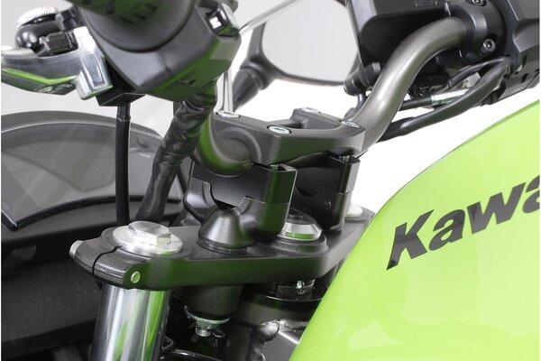 Lenkererhöhung H=20 mm. Schwarz. Kawasaki ER-6n (08-11) /f (08-).