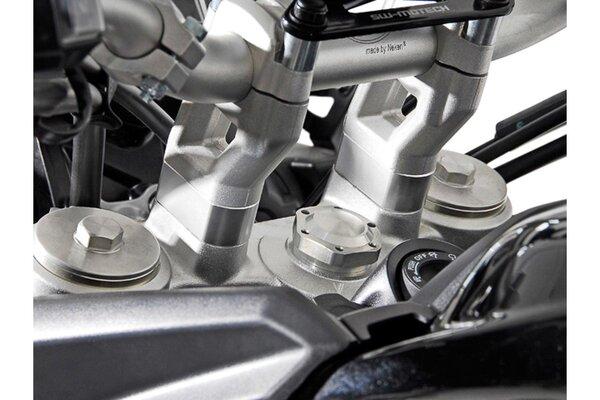 Lenkererhöhung H=20 mm. Silbern. Triumph Tiger 800/1200 Modelle.