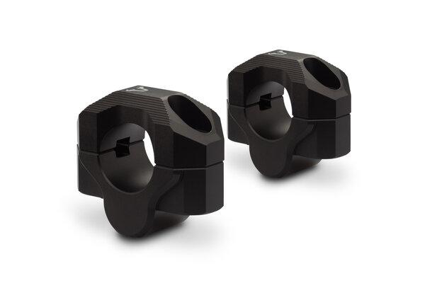 Bar riser for Ø 28 mm handlebar H=20 mm. Black. Milled.