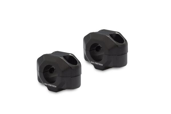 Lenkererhöhung für Ø 22 mm Lenker H=15 mm. Schwarz.