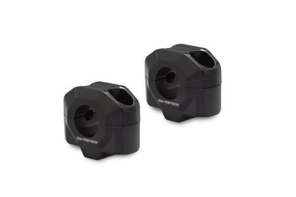 Lenkererhöhung für Ø 22 mm Lenker H=20 mm. Schwarz.