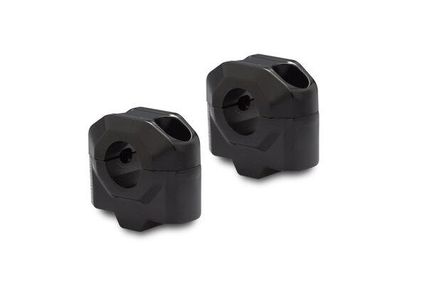 Bar riser for Ø 22 mm handlebar H=25 mm. Black.