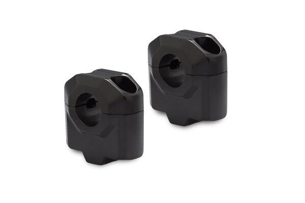 Bar riser for Ø 22 mm handlebar H=30 mm. Black.
