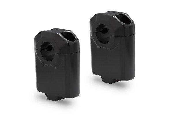 Lenkererhöhung für Ø 22 mm Lenker H=50 mm. Schwarz.