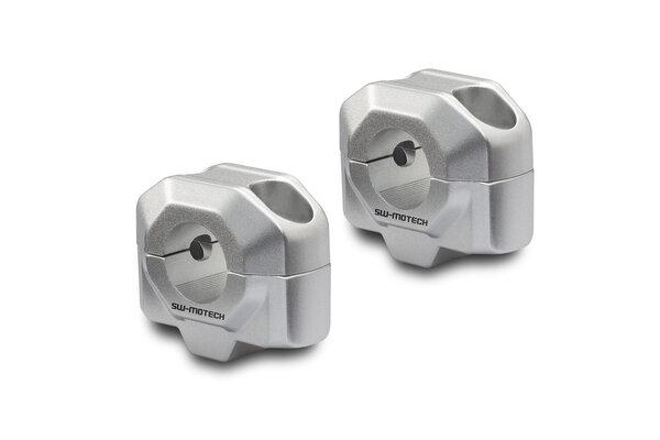 Elevador de manillar Ø 22 mm H=20 mm. Plateado.