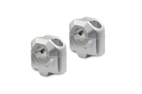 Lenkererhöhung für Ø 22 mm Lenker H=25 mm. Silbern.