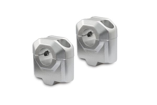 Elevador de manillar Ø 22 mm H=30 mm. Plateado.