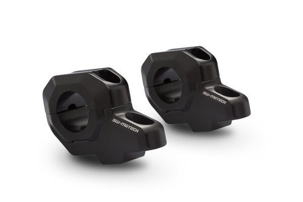 Bar back for Ø 28 mm handlebar H=30 mm. Back 22 mm. Black.