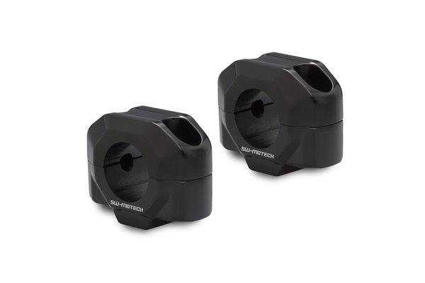 Lenkererhöhung für Ø 28 mm Lenker H=20 mm. Schwarz.