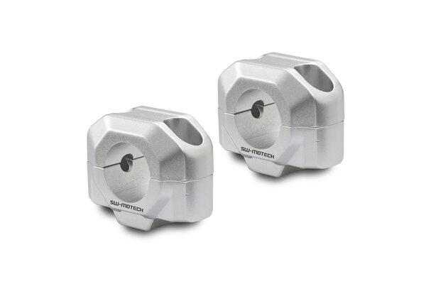 Lenkererhöhung für Ø 28 mm Lenker H=20 mm. Silbern.