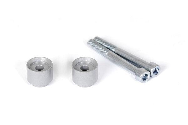 Lenkererhöhung H=20 mm. Silbern. BMW F 650/700 GS, F800GS/Adv.