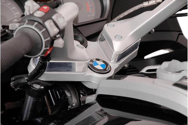 Lenkererhöhung H=25 mm. Silbern. BMW R1200 RT (05-13).