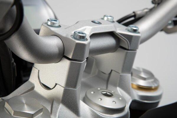 Lenkererhöhung H=30 mm. Silbern. BMW F 850 GS (18-).