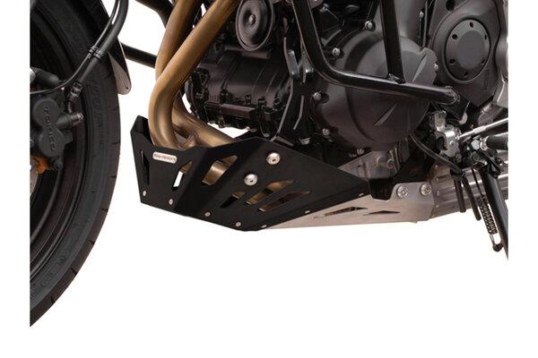 Motorschutz Schwarz/Silbern. Kawasaki Versys 650 (07-14).