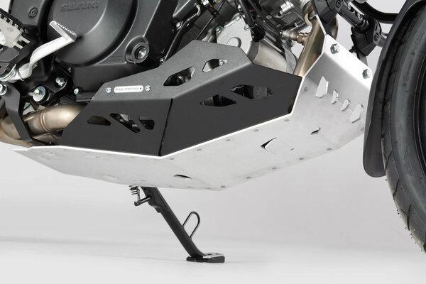 Protector de motor Negro/Plateado. Para V-Strom 1000 con crashbar.