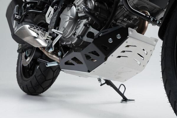Motorschutz Schwarz/Silbern. Suzuki DL650 (11-) / XT (15-).