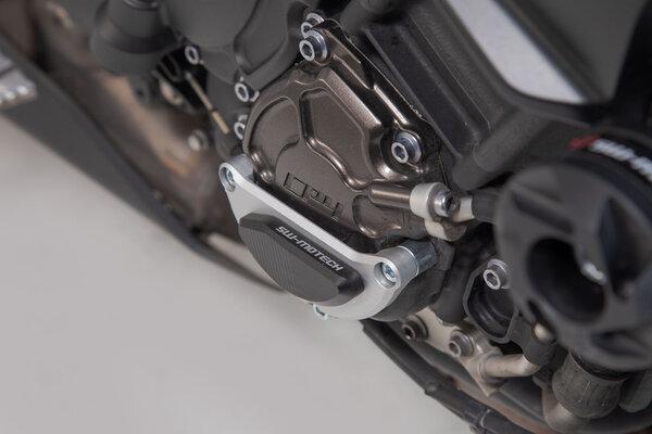 Motorgehäusedeckel-Schutz Schwarz/Silbern. Yamaha MT-10 (16-).