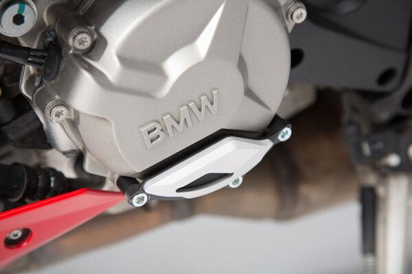 Protector de tapa de la carcasa del motor Negro/plateado. BMW S1000R / RR / XR.