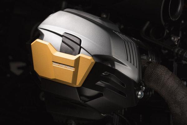 Protector de cilindro. En pareja. Dorado. BMW R1200 R / GS / Adv. / nineT.
