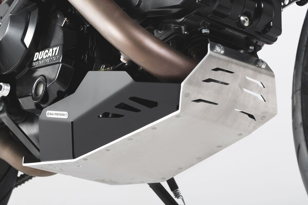 Motorschutz Schwarz/Silbern. Ducati Hyperstrada / Hypermotard.