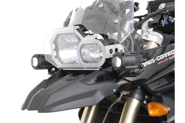 Supports pour feux additionnels Noir. BMW F 800 GS (08-12) / F 650 GS (07-11).