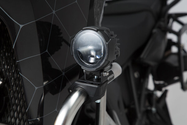 Abrazaderas para luces Negro. Para Ø 22/25,4/26/27/28 mm.