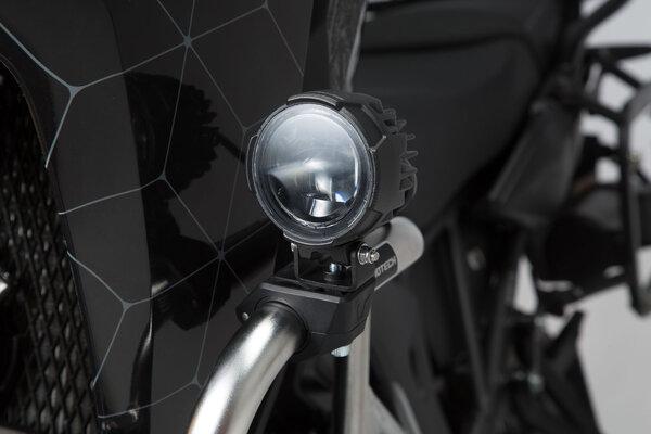 Crash bar clamps for lights Black. For Ø 22/25,4/26/27/28 mm crash bars.
