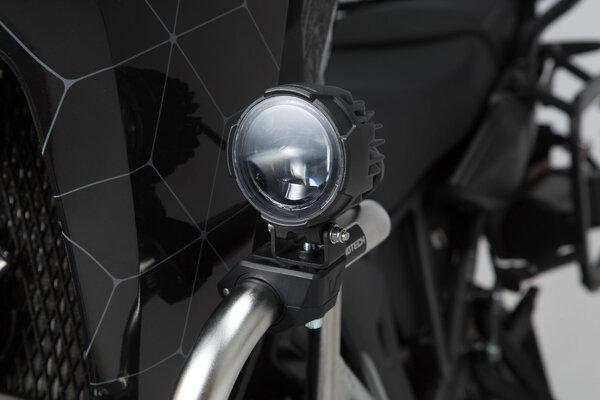 EVO fog light set Black. With crash bar clamps for lights.