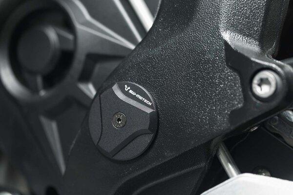Set de bouchons de cadre Noir. BMW S 1000 XR (15-).