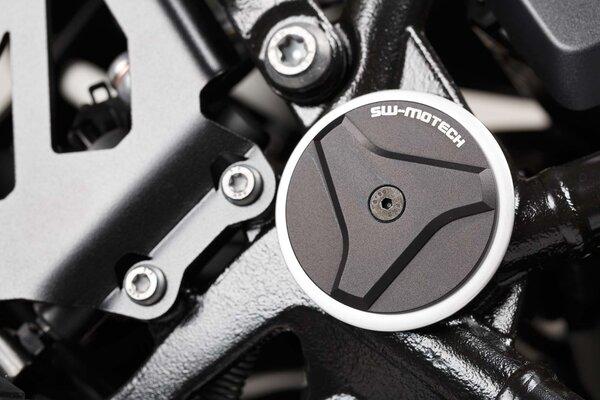 Rahmenkappen-Set Schwarz. BMW R1200GS, R1200/1250RT, R1250GS.