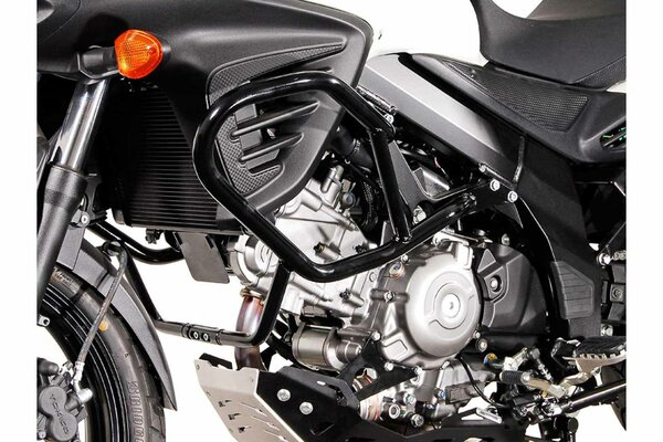 Barra di protezione motore Nero. Suzuki DL650 V-Strom (11-) / XT (15-).