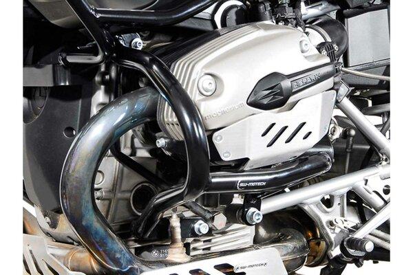 Barra di protezione motore Nero. BMW R 1200 GS (04-12).
