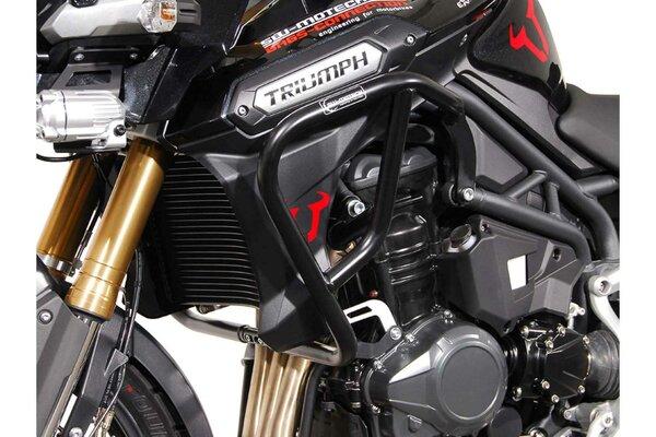 Protecciones laterales de motor Negro. Triumph Tiger 1200 Explorer (11-15).