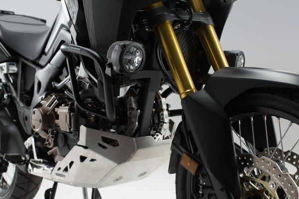 Protecciones laterales de motor Negro. Honda CRF1000L Africa Twin (15-).