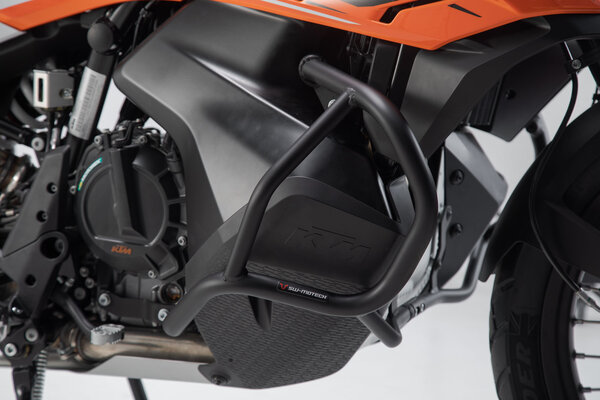 Protecciones laterales de motor Negro. KTM 790 Adventure (19-).