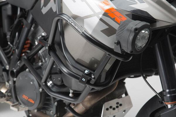Upper crash bar for orig. KTM crash bar Black. 1290 SAdv R / S (16-), 1090 Adv (16-).